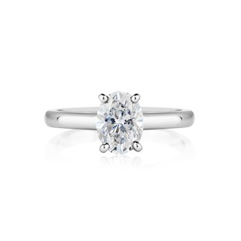 Oval Diamond Solitaire Ring - .50ct