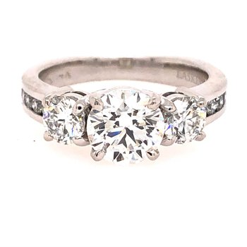 Classic 3-Stone Ring With Accent Diamonds