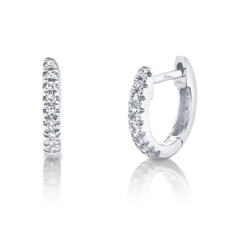Lasker Diamond Fashion Mini Huggie Earrings
