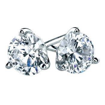 Stud Earrings - 3.00cttw