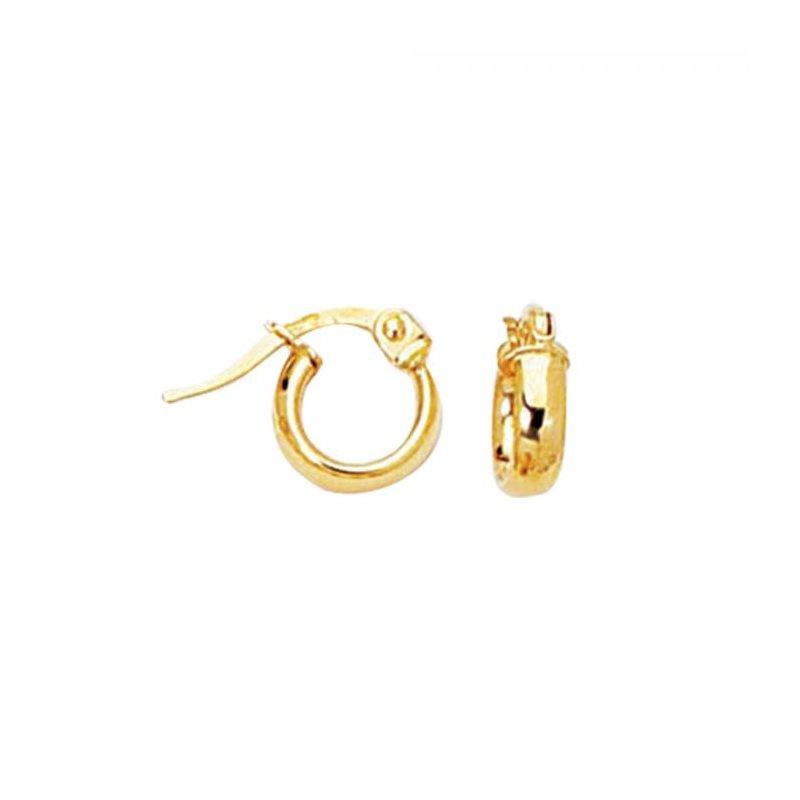 Lasker Gold Fashion Petite Hoop Earrings