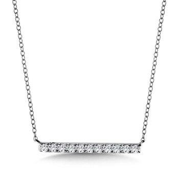 Walk The Line Diamond Pendant