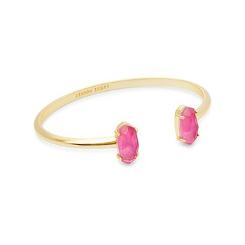 Edie Gold Cuff Bracelet In Azalea Illusion