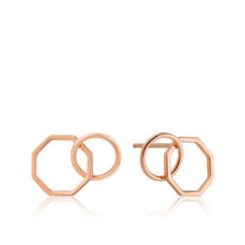 2-Shaped Stud Earrings