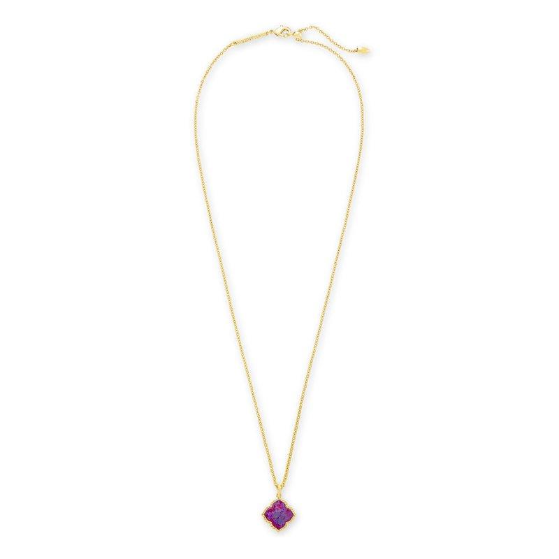 Kendra Scott Kendra Scott Mallory Pendant Necklace Yellow Plum Opal