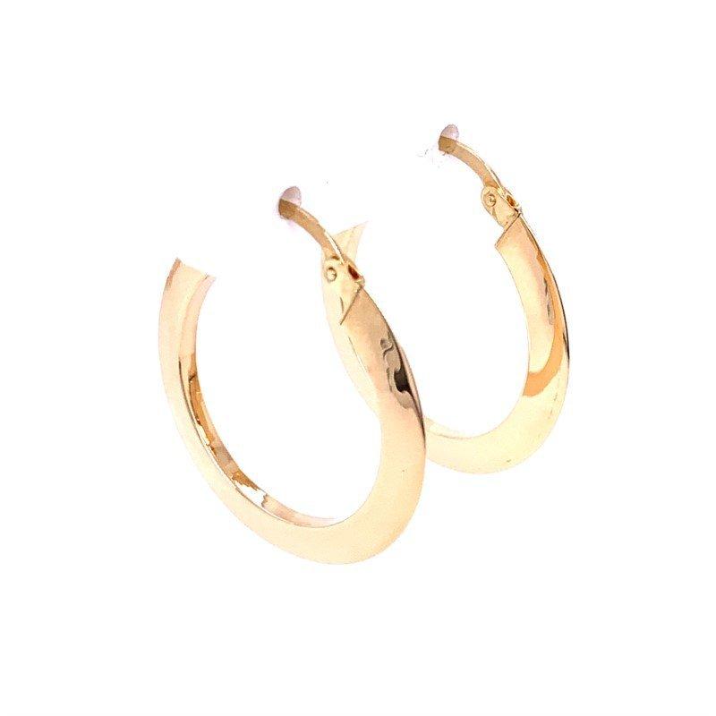 Lasker Gold Fashion Knife Edge Hoop Earrings