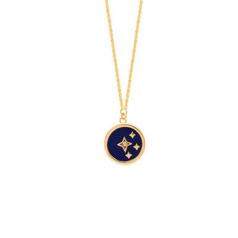 Lasker Gold Fashion Celestial Night Sky Pendant