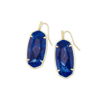 Faceted Elle Earring in Yellow with Cobalt Howlite