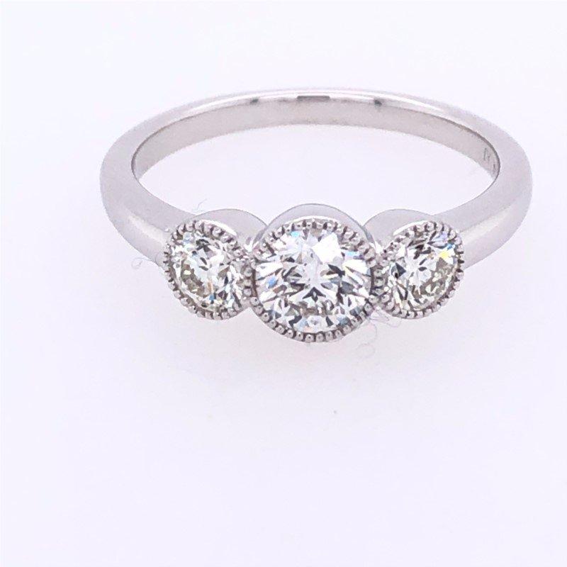 Lasker Bridal Past, Present, Future Ring - 1cttw