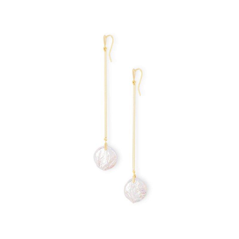 Kendra Scott Lizbeth Gold Drop Earrings In Pearl
