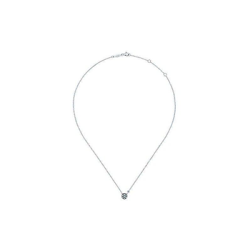 Gabriel 925 Silver Fashion Diamond White Sapphire Necklace
