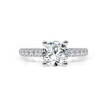 14K White Gold Diamond Engagement Ring S2862