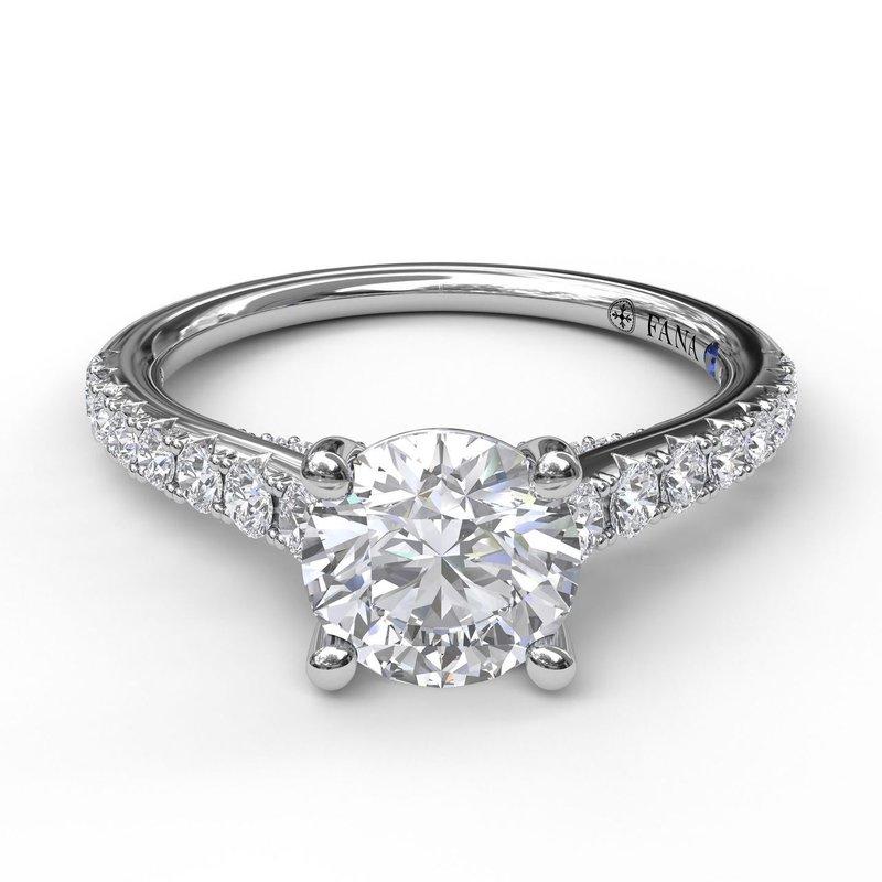 Fana 14K White Gold Diamond Engagement Ring S2862