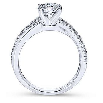 Morgan 14K White Gold Twisted Diamond Engagement Ring