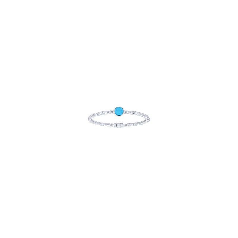Gabriel 925 & Turquoise Color Bangle Bracelet