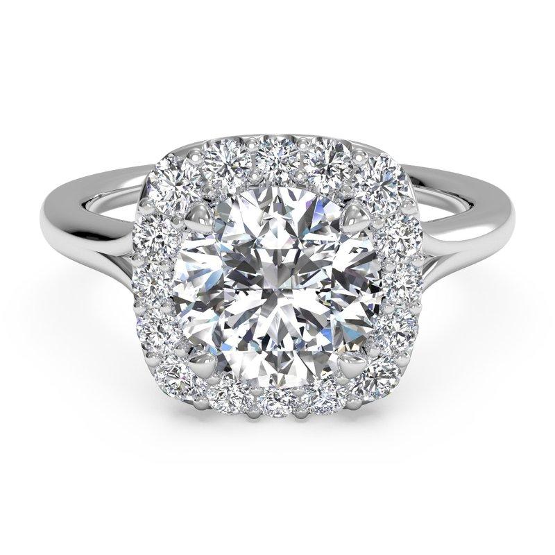 Ritani 14K White Gold Diamond Engagement Ring 1R1322