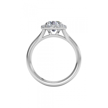 14K White Gold Diamond Engagement Ring 1R1322