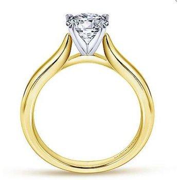 Lauren 14K White Gold Round Diamond Engagement Ring