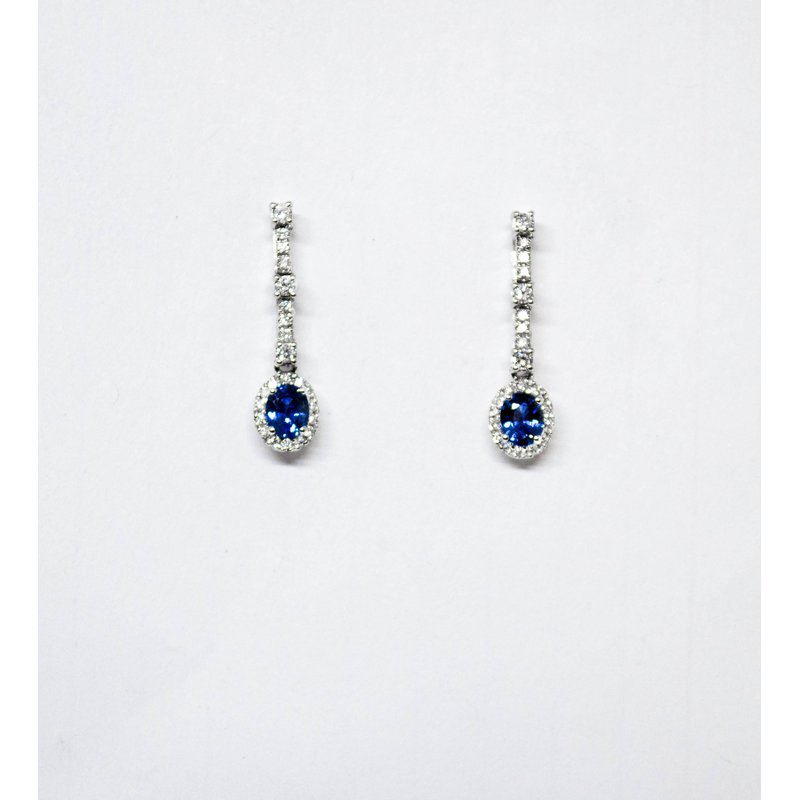 Collage Collection Sapphire and Diamond dangle Earrings