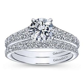Bridget 14K White Gold Round Diamond Engagement Ring