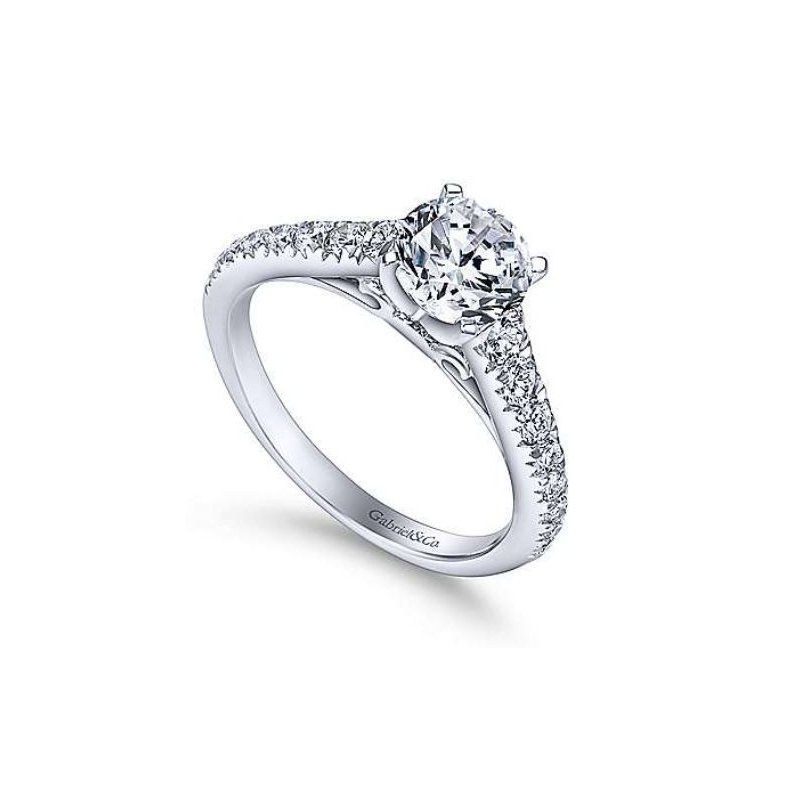 Gabriel Bridget 14K White Gold Round Diamond Engagement Ring