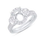 Shy 18K White Gold Diamond Engagement Ring SC28023787