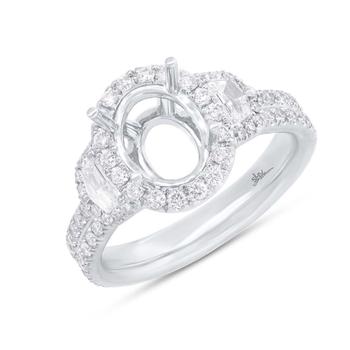 18K White Gold Diamond Engagement Ring SC28023787