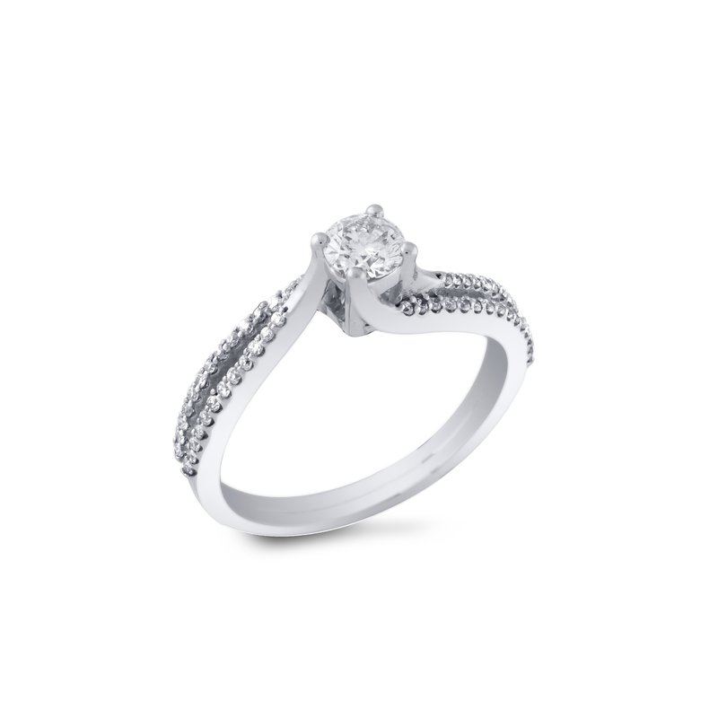 Collage Collection Diamond Pave Engagement Ring