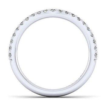 14K White Gold Diamond Anniversary Band