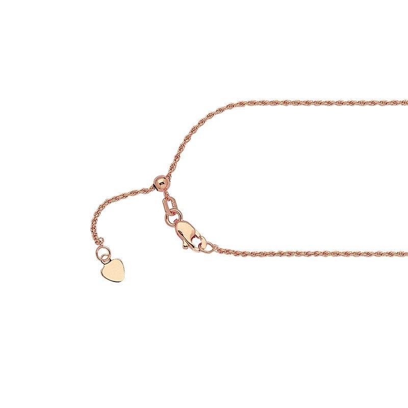 """Midas 22"""" Adjustable Diamond Cut Rope Chain"""