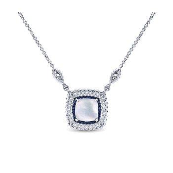Gabriel Silver Madison Multi Color Necklace