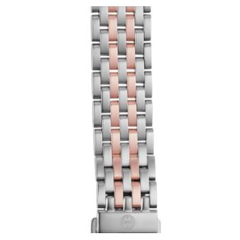 Sidney Two Tone Rose & White Metal Bracelet