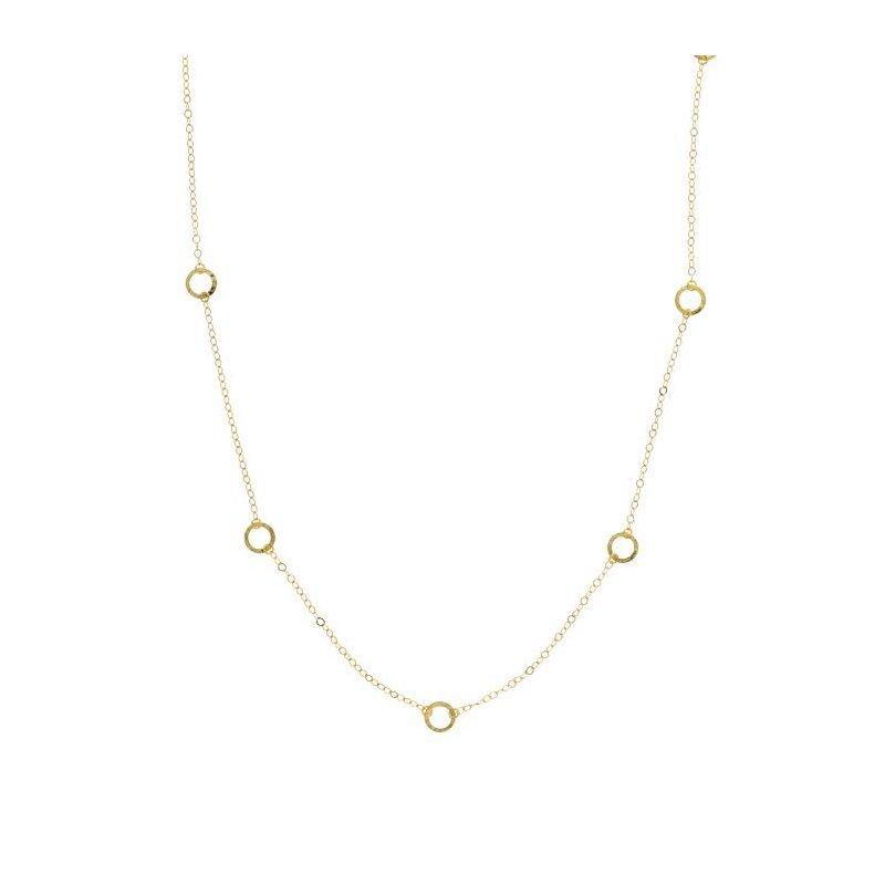 "Midas 36"" Stunning Open Circle Necklace"