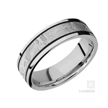 Cobalt & Meteorite Men's Wedding Band