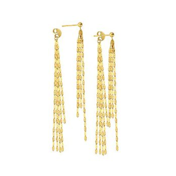 14K Yellow Gold Hammered Forzentina Earrings