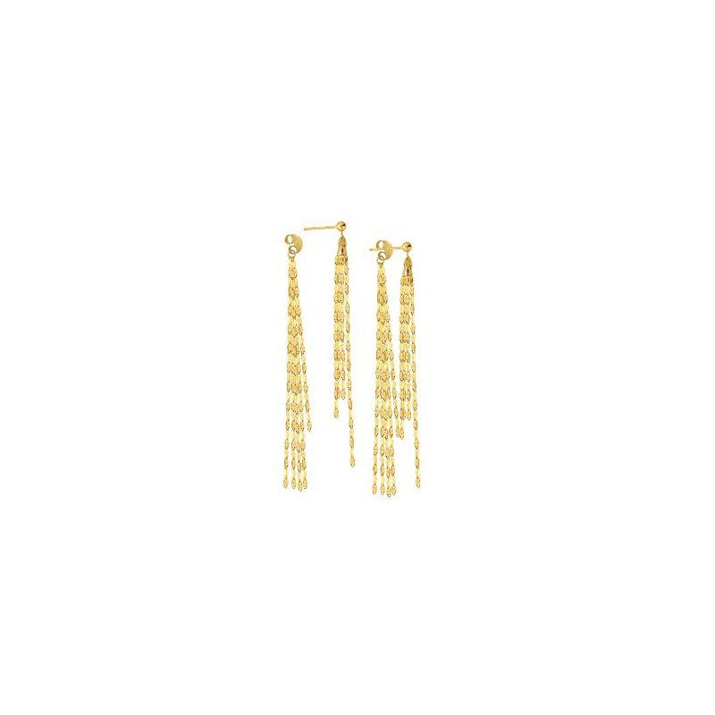 Midas 14K Yellow Gold Hammered Forzentina Earrings