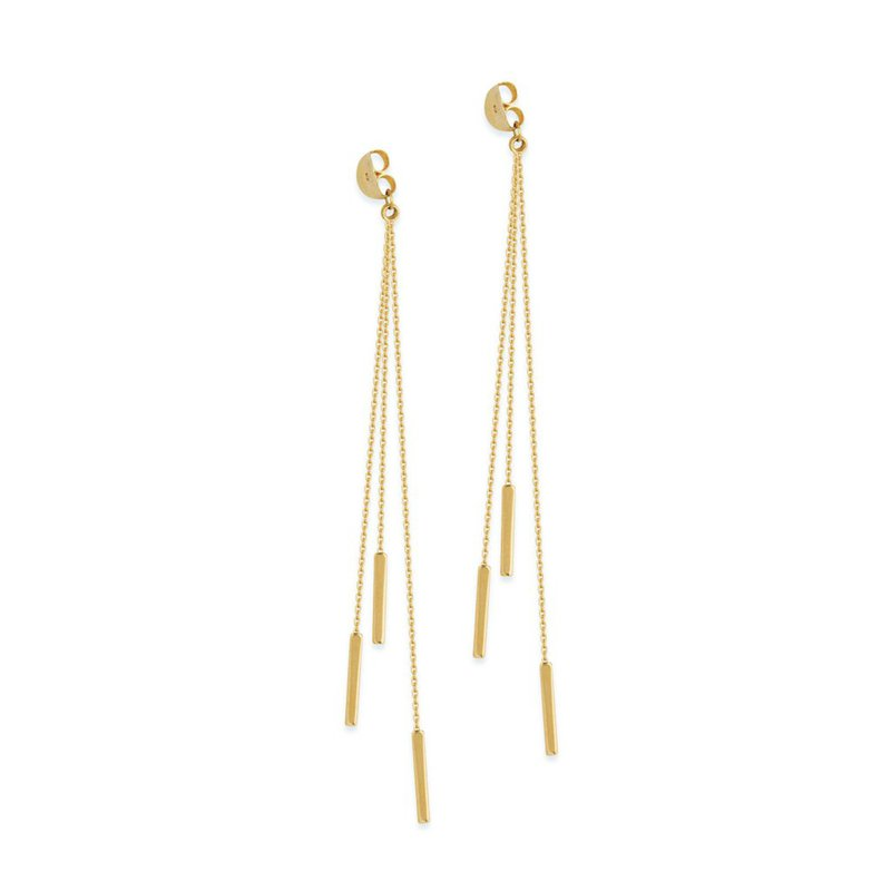 Midas 14K Yellow Cable Chain & Dagger Earrings