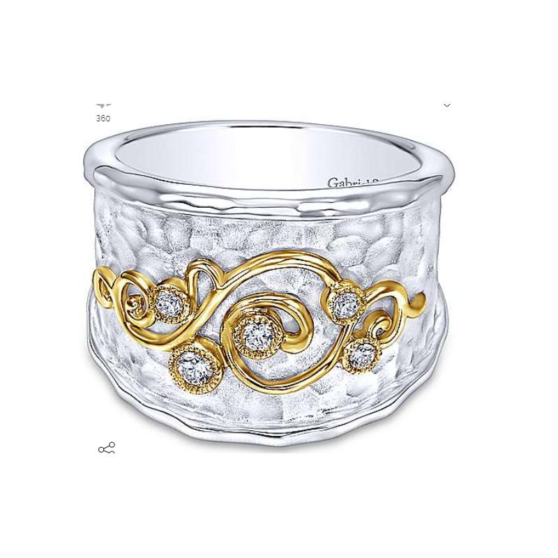 Gabriel 18K Yellow Gold & Sterling Silver Fashion Ring LR6115MY5JJ