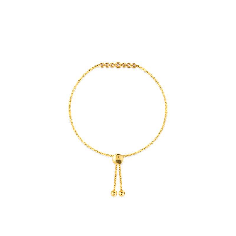 Midas 14K Yellow Gold Graduated Diamond Bolo Bracelet
