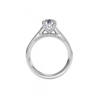 14K White Gold Diamond Engagement Ring 1R2378