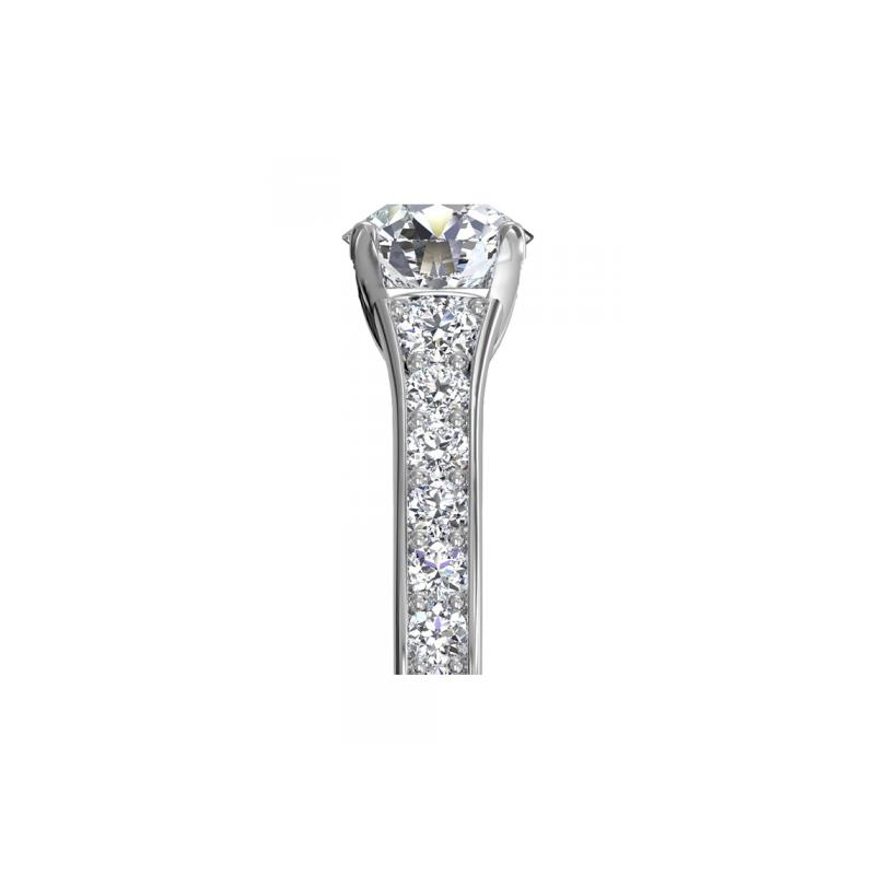 Ritani 14K White Gold Diamond Engagement Ring 1R2378