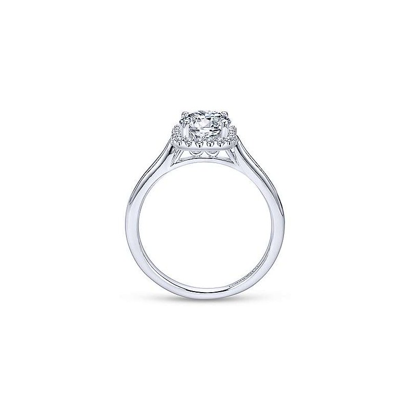 Gabriel 14K White Gold and Diamond Jenna Engagement Ring