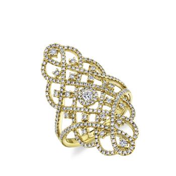 0.93CT 14K YELLOW GOLD DIAMOND LADY'S RING