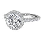 Ritani 14K White Gold Diamond Engagement Ring 1R3705