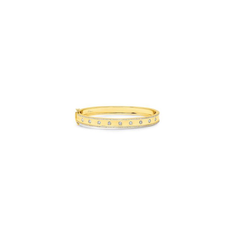 Shy 14K Yellow Gold Diamond Bracelet