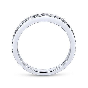 14K White Gold Diamond Channel Set Anniversary Band