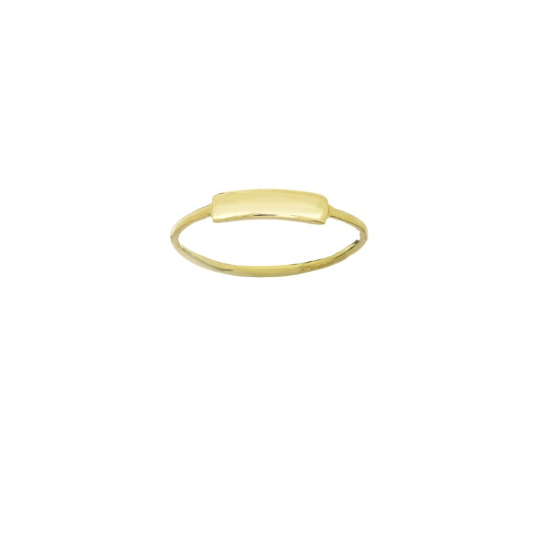 Midas 14K Yellow Gold Small ID Plate Ring