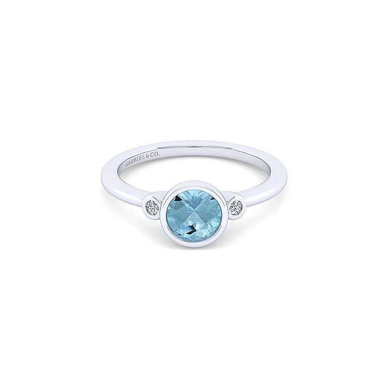 Gabriel Sterling Silver Aquamarine Fashion Ring
