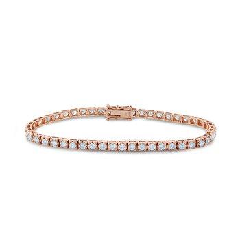 Rose Gold Diamond Tennis Bracelet