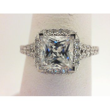 14K White Gold Diamond Engagement Ring S2844
